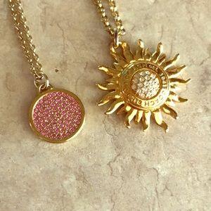 Coach pendant necklaces set of two
